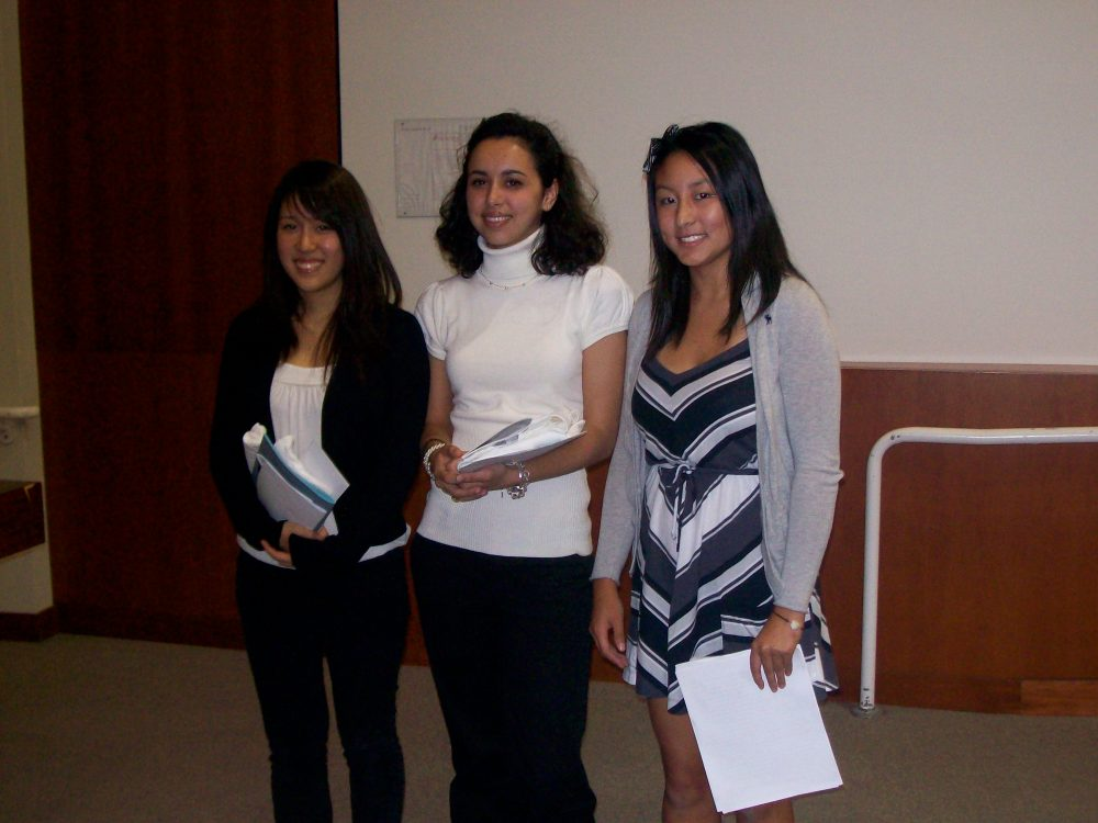Winners, Left to Right: Jinah Rhee, Cara Beirne, Betty Liu