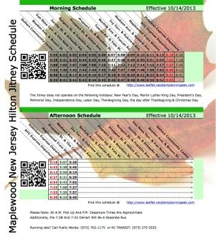 Hilton Jitney Leaflet